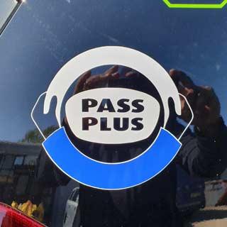 Pass Plus Logo on car