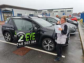 Driving test pass from Rhiannon