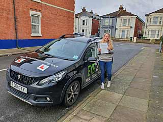Sophie from Portsmouth passed her test first time